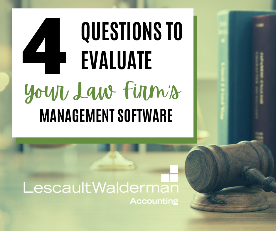 4 Questions To Evaluate Your Law Firm's Management Software